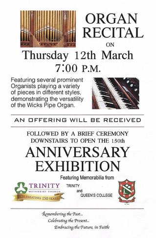 Organ Recital & Anniversary Exhibition