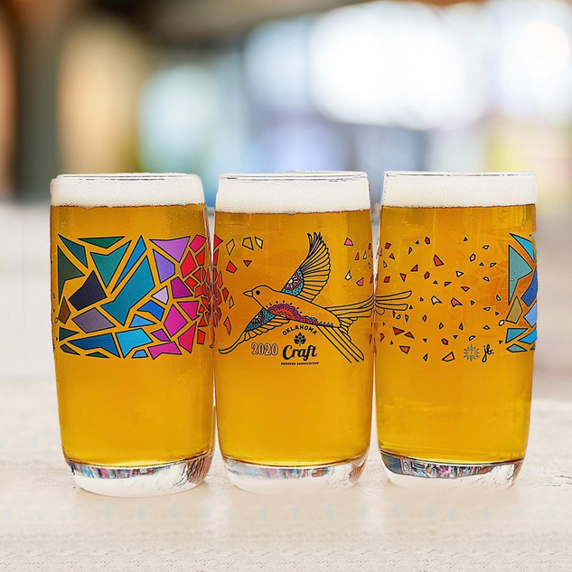 Craft Brewers Association of Oklahoma Glasses