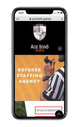 Ace 5on5 website on mobile