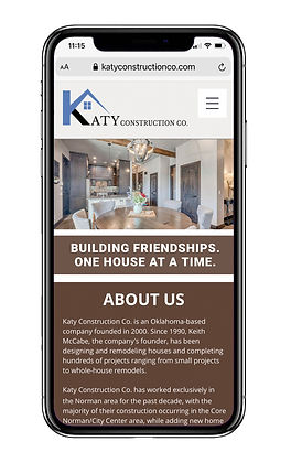 Katy Construction Co. on mobile