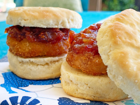 CHICKEN BISCUIT WITH TOMATO JAM