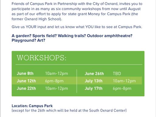 Campus Park Community Workshops