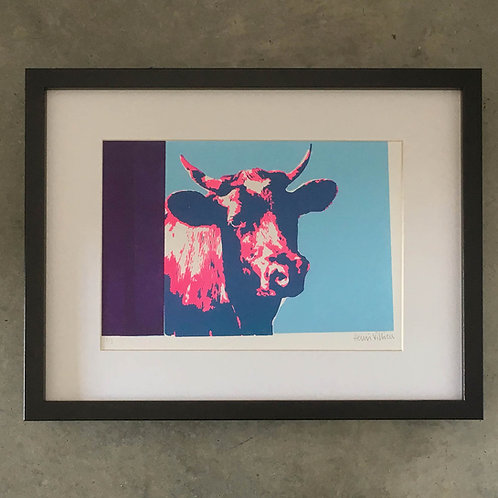 Aldeburgh Cow pink/blue