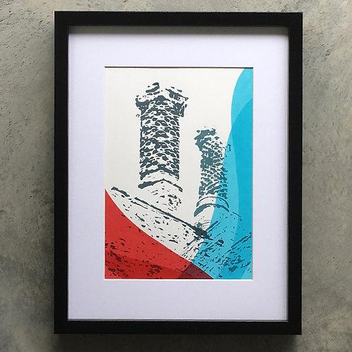 Framlingham chimneys red