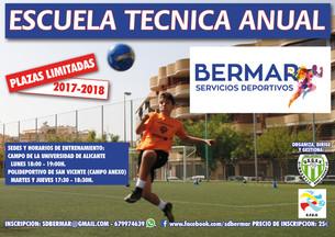 Escuela de perfeccionamiento de técnica individual de fútbol (jugadores de campo y porteros)
