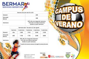 Abierto el plazo de inscripción para el CAMPUS DE VERANO 2019