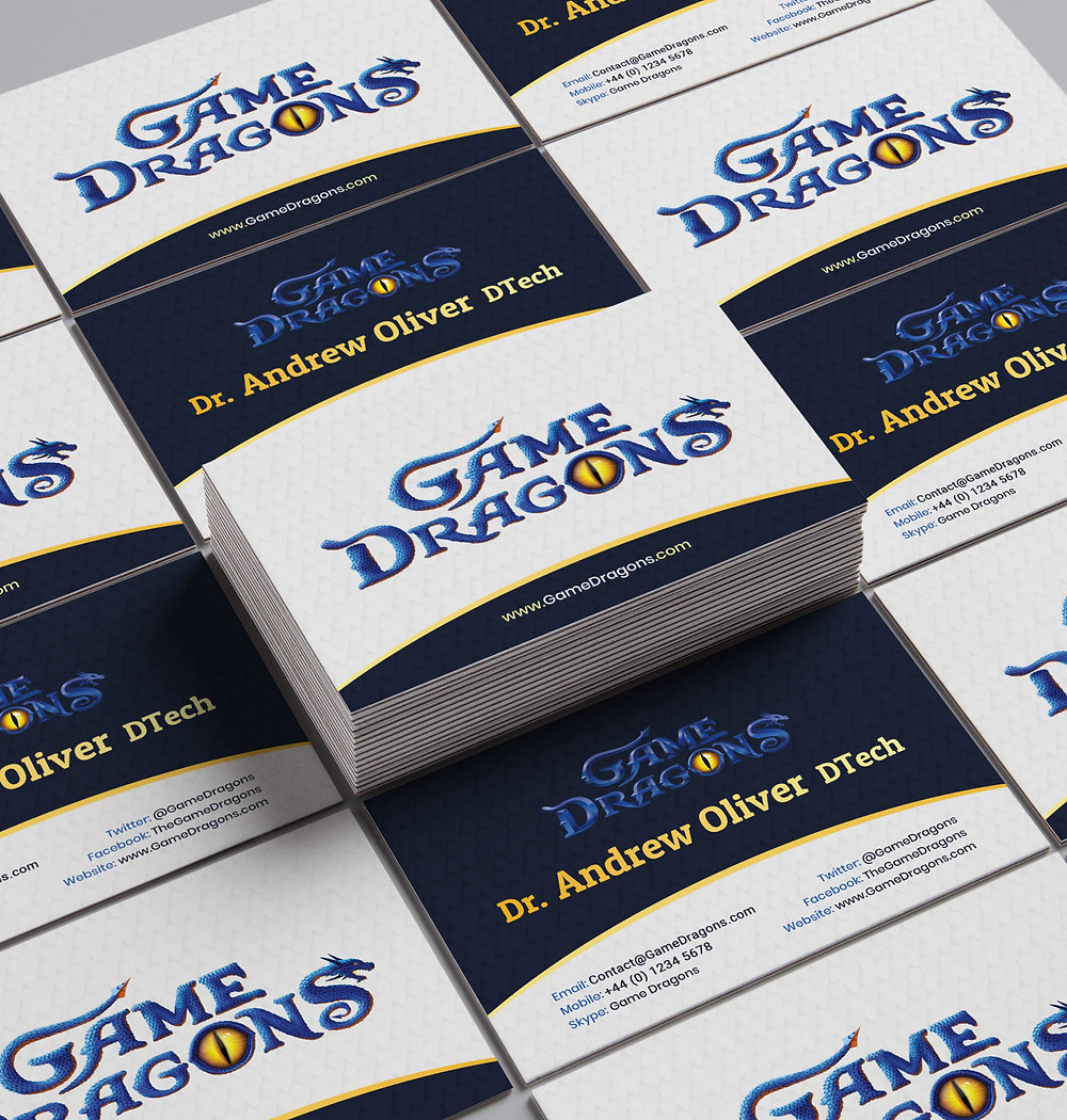 Game Dragons - Business Card- Andrew Oliver - MOCKUP REDACTED