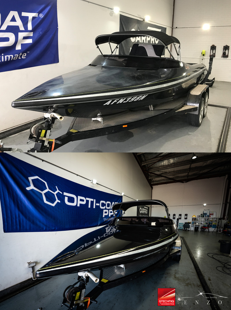 Boat Paint Ceramic Coating - Before and After