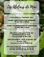 atelier de sophrologie du mois de mai, Céline Vicot, Agnès Feger, Bellegarde, Jonquières St Vincent, Centre Equilibre et Bien-être
