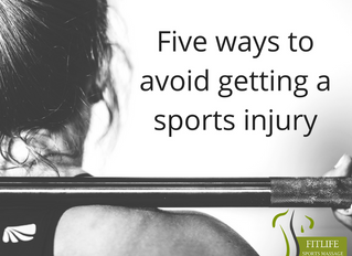Five ways to avoid getting a sports injury