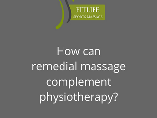 How can remedial massage complement physiotherapy?