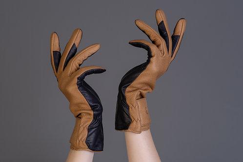 Damen Fahrhandschuhe Hirschleder cork/ Oil TacHaftleder black