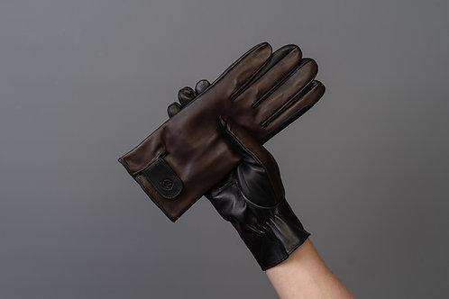 Herren Lederreithandschuh Classic conker black