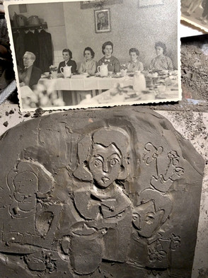 Drawing from Photo into Clay