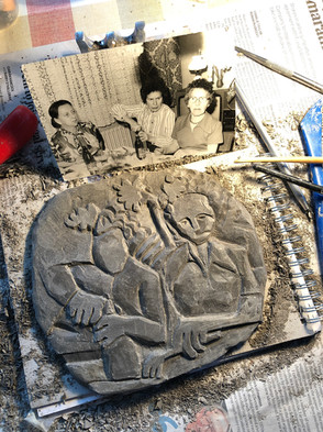 Clay Plate Carving