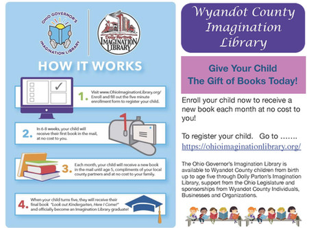 Imagination Library Now Open to Wyandot County
