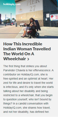 How This Incredible Indian Women Travelled The World On A Wheelchair