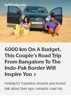 6000 km On A Budget. This Couple's Road Trip From Bangalore To The Indo-Pak Border Will Inspire You