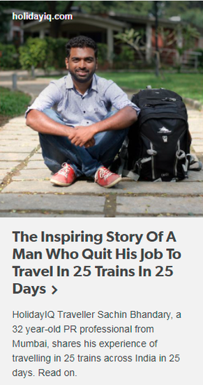 The Inspiring Story Of A Man Who Quit His Job To Travel In 25 Trains In 25 Days