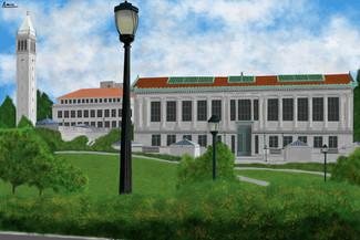 My Drawing of Memorial Glade, UC Berkeley