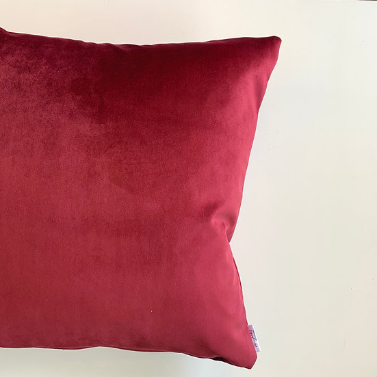 Cherry Velvet Accent Pillows