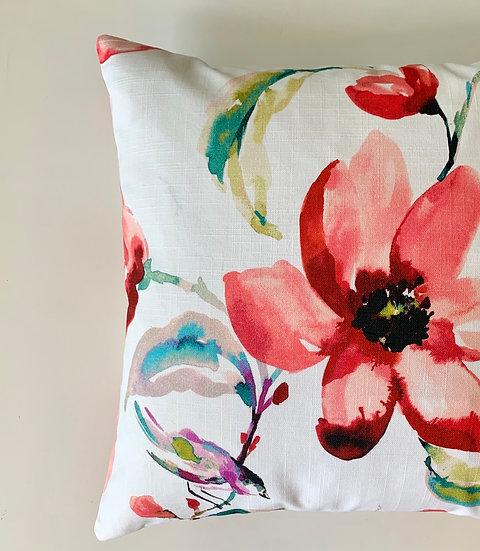 Cherry Floral Accent Pillow