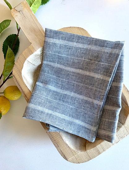 Farmhouse Stripe Linen Tea Towels - 2 pk