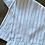 Thumbnail: Linen Ruffled Table Runner - Black Pinstripe