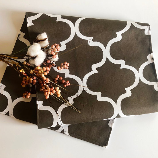 Table Runner - Chocolate Brown