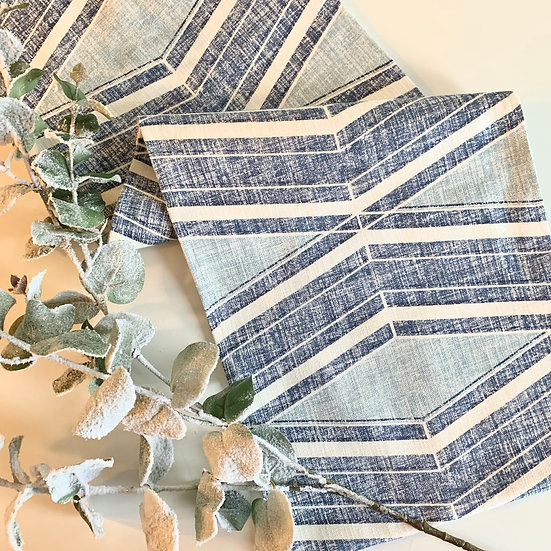 Table Runner - Geometric Blues