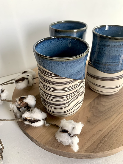 Laura B Pottery Dimpled Tumblers