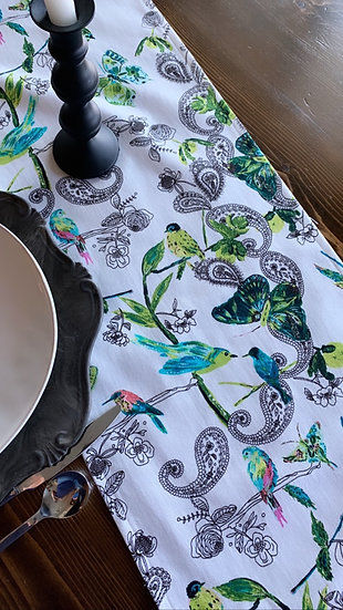 Table Runner - Butterflies & Birds