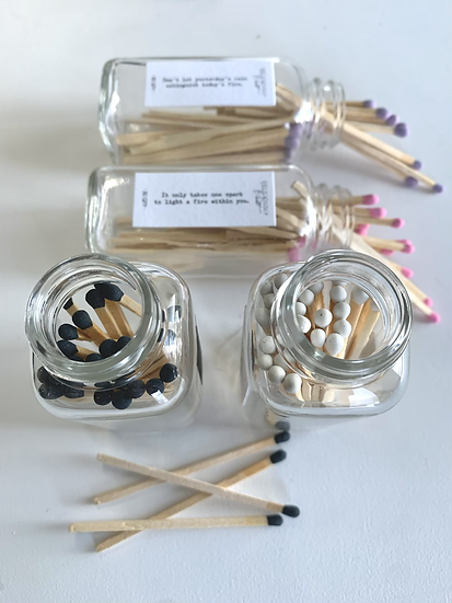 Long Stick Wooden Matches with Glass Bottle