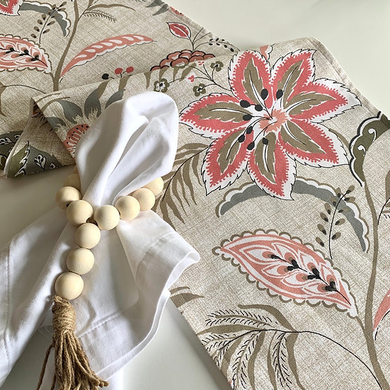 Table Runner - Coral