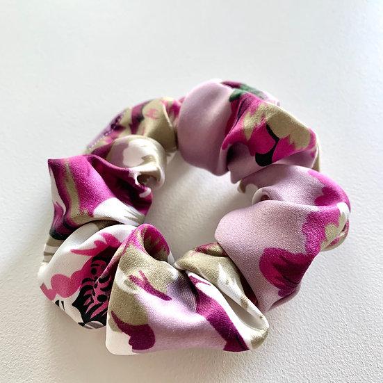 Lavender Floral Scrunchie