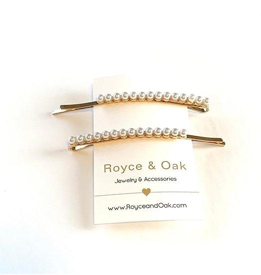 2 Pearl Hair Pins