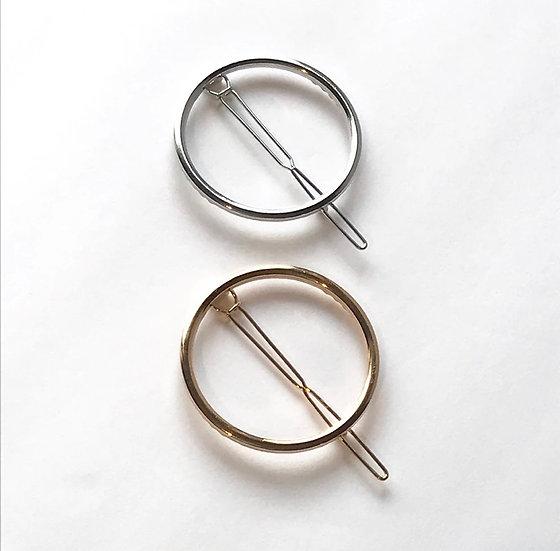 Royce & Oak Circle Hair Clip - Gold