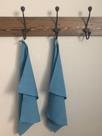 Spring Blue Linen Tea Towels - 2 pk
