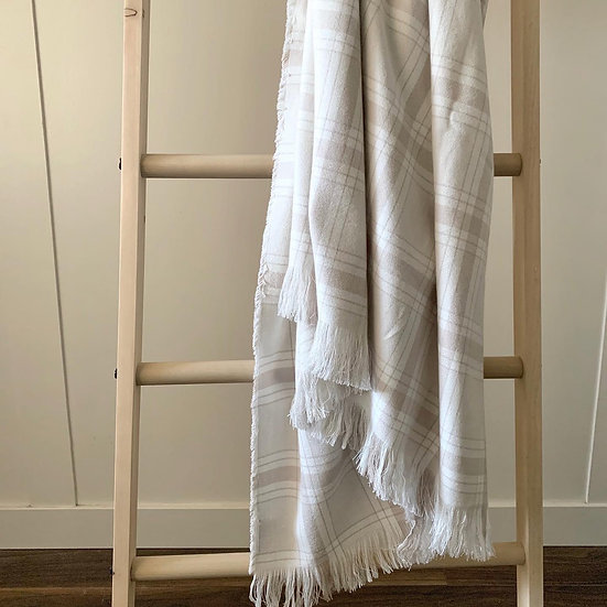 Neutral Plaid Throw