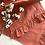 Thumbnail: Linen Ruffled Table Runner - Terracotta
