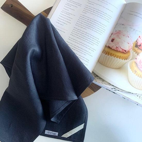 Navy Linen Tea Towels - 2 pk