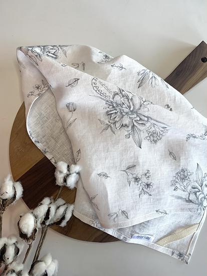 Valensole Grey Linen Tea Towels - 2 pk