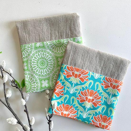 Cuffed Linen Tea Towel - 2 pk