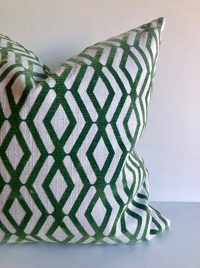 Emerald Geometric Accent Pillow