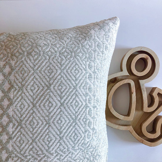 Mint Green Geometric Accent Pillow