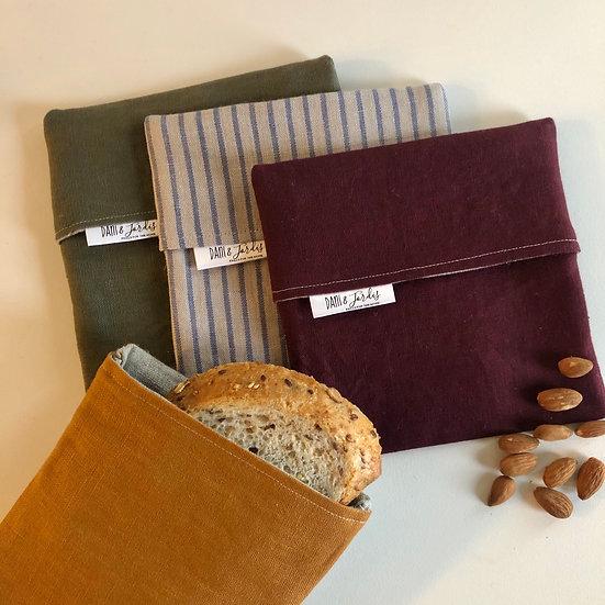 Linen Snack/Sandwich Bag
