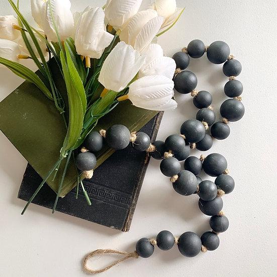 """Wooden Beads - 31"""" Garland"""