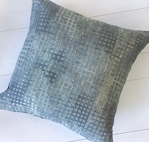Cubed Teal Accent Pillow