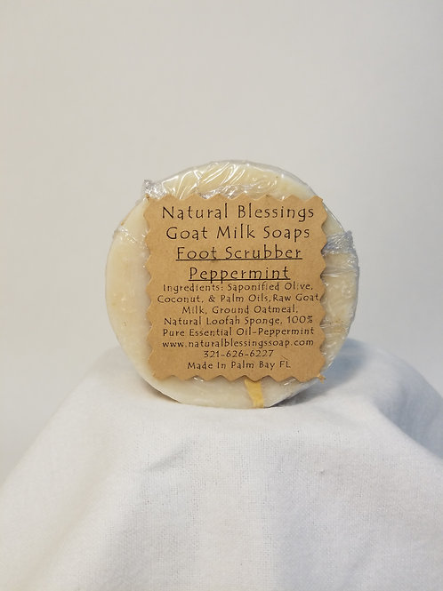 Goat's Milk Soaps Foot Scrubber - Peppermint