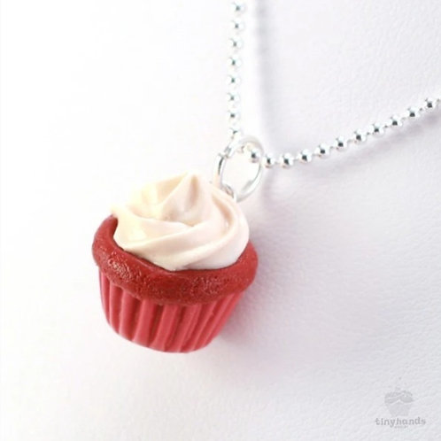 Tiny Hands Necklace - Scented Red Velvet Cupcake Necklace